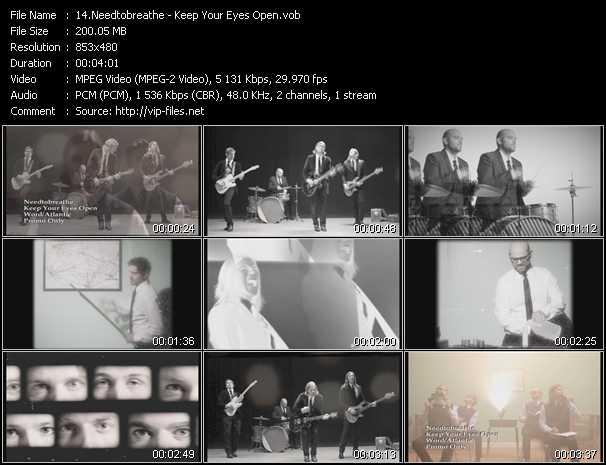 download Needtobreathe « Keep Your Eyes Open » video vob