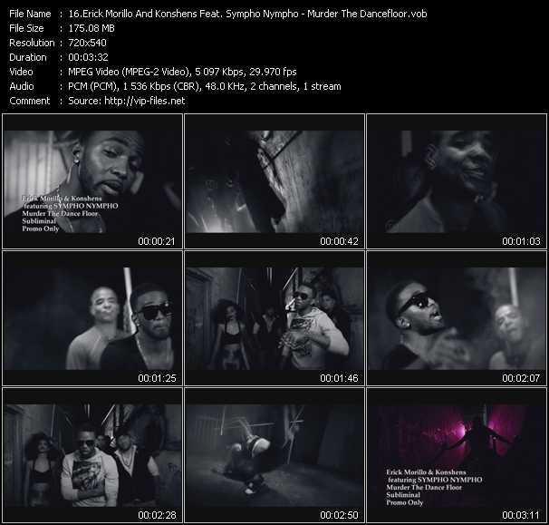 download Erick Morillo And Konshens Feat. Sympho Nympho « Murder The Dancefloor » video vob