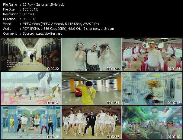 download Psy « Gangnam Style » video vob