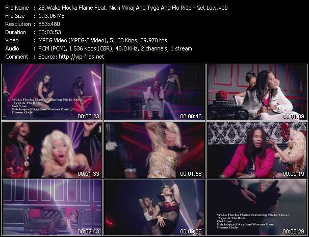 download Waka Flocka Flame Feat. Nicki Minaj And Tyga And Flo Rida « Get Low » video vob