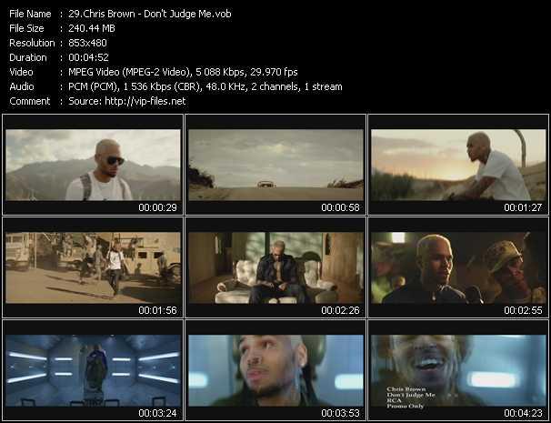 download Chris Brown « Don't Judge Me » video vob