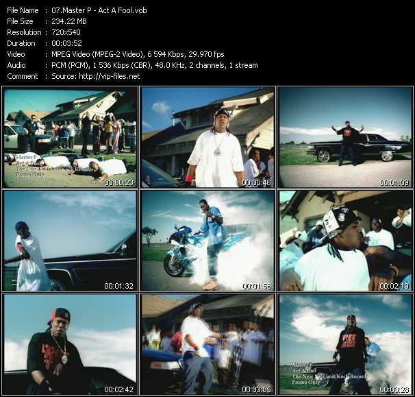 download Master P « Act A Fool » video vob