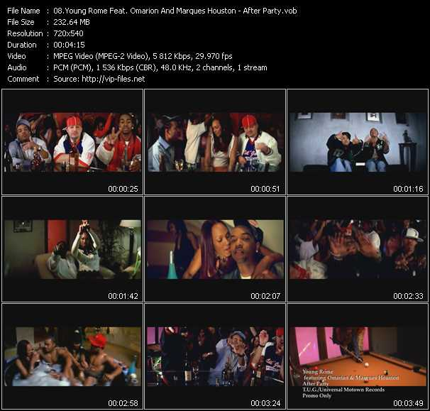 download Young Rome Feat. Omarion And Marques Houston « After Party » video vob