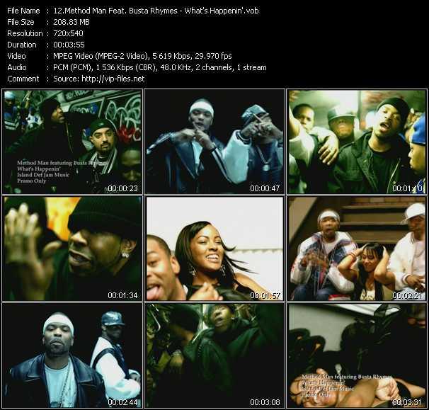 download Method Man Feat. Busta Rhymes « What's Happenin' » video vob