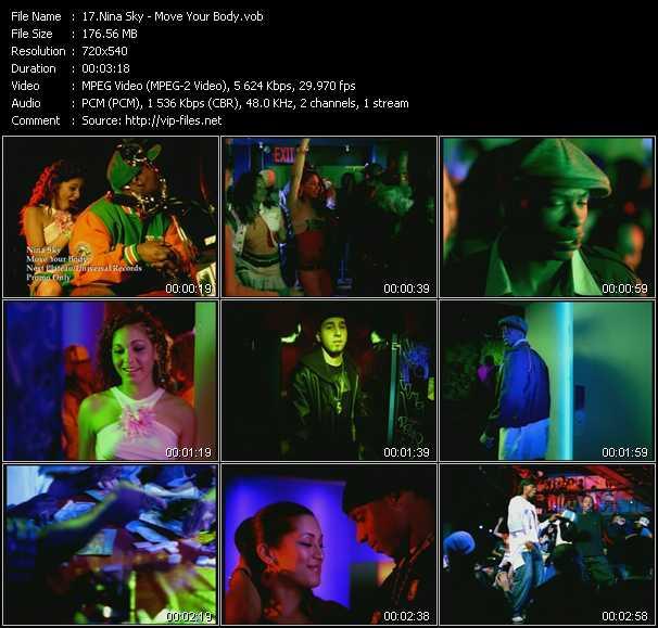 download Nina Sky « Move Your Body » video vob