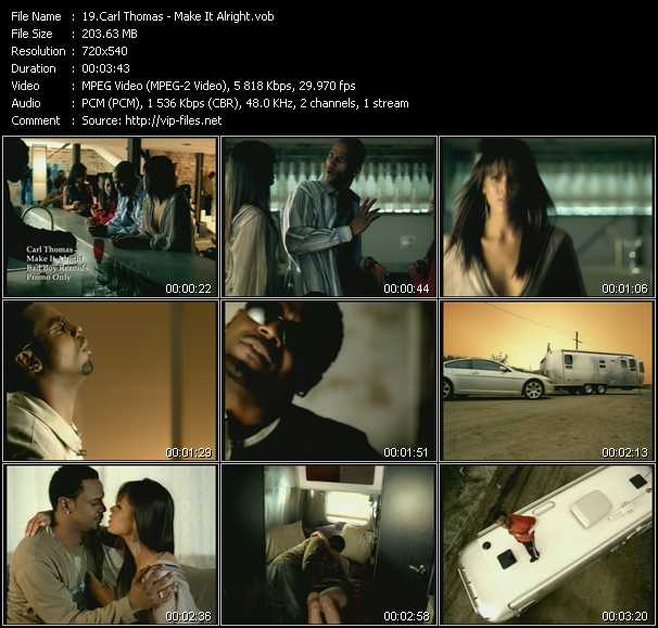 download Carl Thomas « Make It Alright » video vob