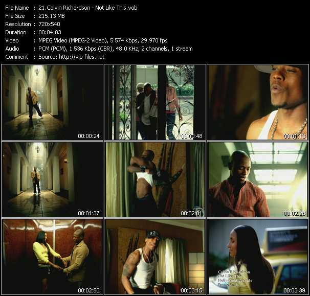download Calvin Richardson « Not Like This » video vob