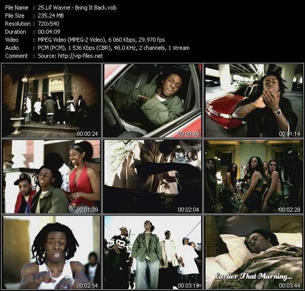 download Lil' Wayne « Bring It Back » video vob