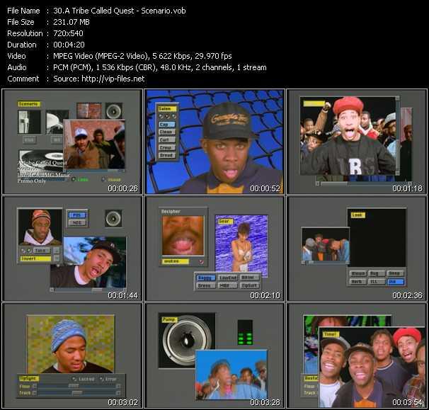 video Scenario screen