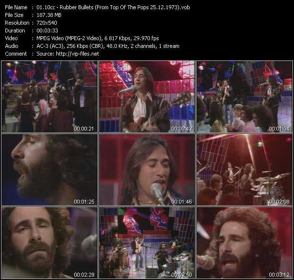 download 10cc « Rubber Bullets (From Top Of The Pops 25.12.1973) » video vob