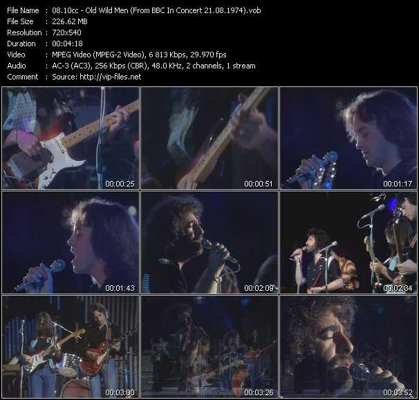 download 10cc « Old Wild Men (From BBC In Concert 21.08.1974) » video vob