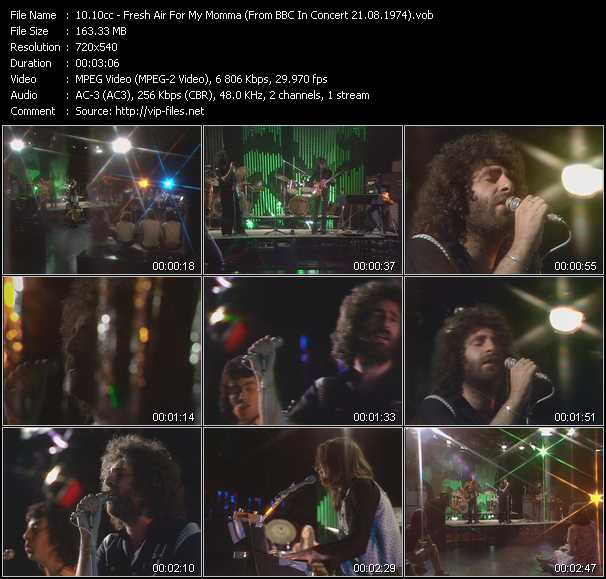 download 10cc « Fresh Air For My Momma (From BBC In Concert 21.08.1974) » video vob