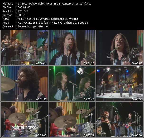 download 10cc « Rubber Bullets (From BBC In Concert 21.08.1974) » video vob