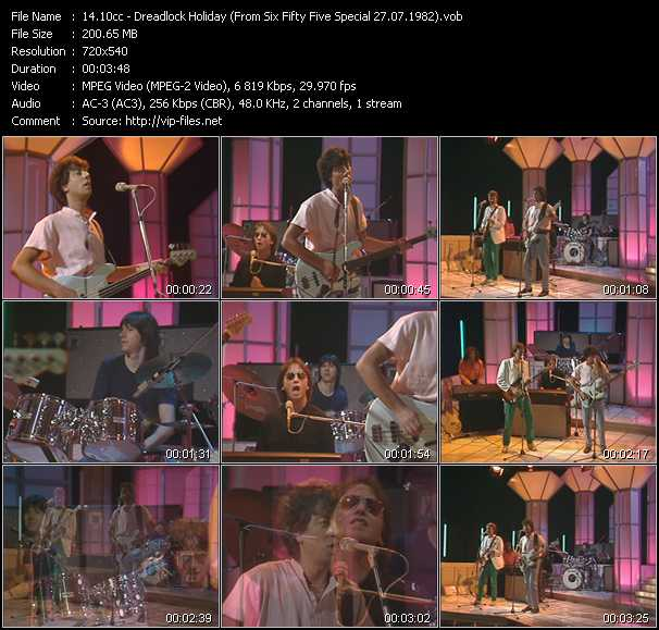 video Dreadlock Holiday (From Six Fifty Five Special 27.07.1982) screen