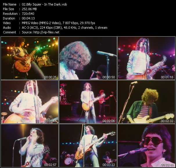 download Billy Squier « In The Dark » video vob