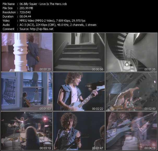 download Billy Squier « Love Is The Hero » video vob