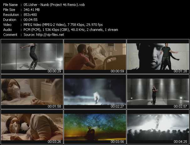 download Usher « Numb (Project 46 Remix) » video vob