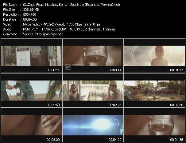 video Spectrum (Extended Version) screen