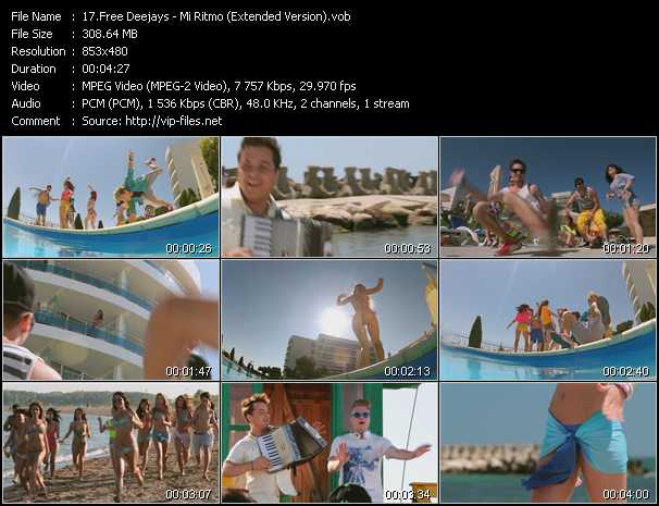 download Free Deejays « Mi Ritmo (Extended Version) » video vob