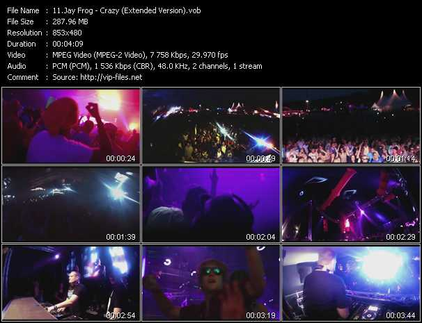 download Jay Frog « Crazy (Extended Version) » video vob