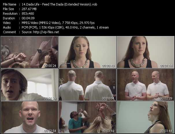 download Dada Life « Feed The Dada (Extended Version) » video vob