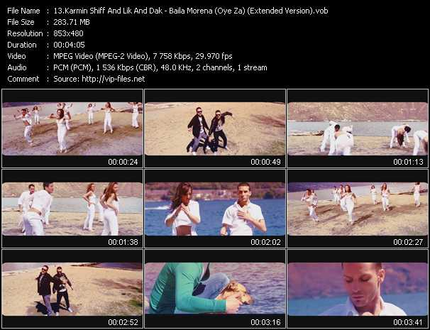 video Baila Morena (Oye Za) (Extended Version) screen