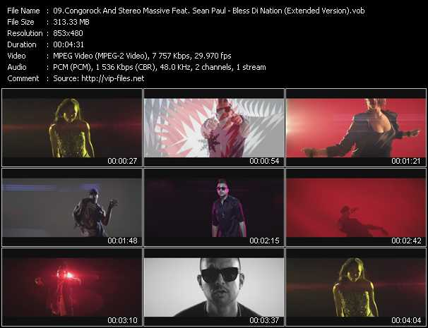 download Congorock And Stereo Massive Feat. Sean Paul « Bless Di Nation (Extended Version) » video vob