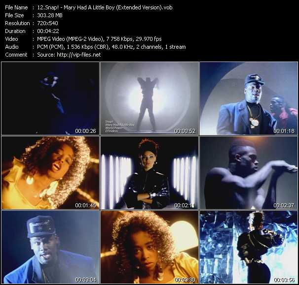 download Snap! « Mary Had A Little Boy (Extended Version) » video vob
