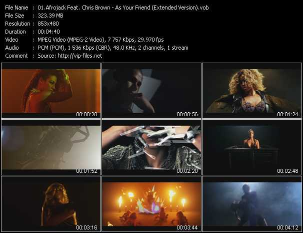 download Afrojack Feat. Chris Brown « As Your Friend (Extended Version) » video vob