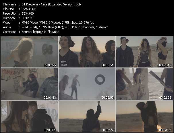 download Krewella « Alive (Extended Version) » video vob