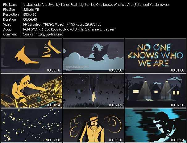 download Kaskade And Swanky Tunes Feat. Lights « No One Knows Who We Are (Extended Version) » video vob