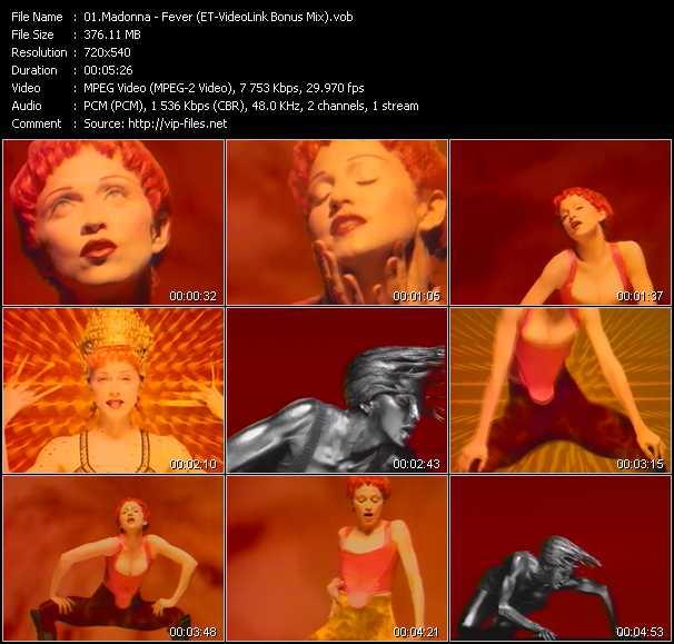 download Madonna « Fever (ET-VideoLink Bonus Mix) » video vob