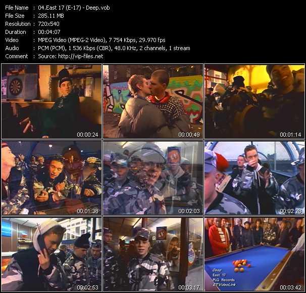 download East 17 (E-17) « Deep » video vob