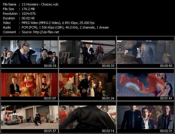 download Hoosiers « Choices » video vob