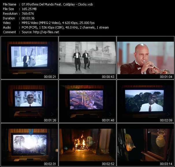Клипы на песню coldplay - clock