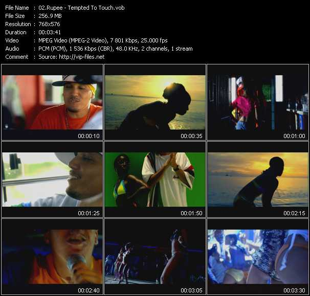 download Rupee « Tempted To Touch » video vob
