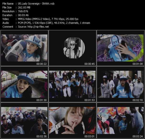 download Lady Sovereign « Shhhh » video vob