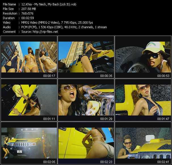 download Khia « My Neck, My Back (Lick It) » video vob