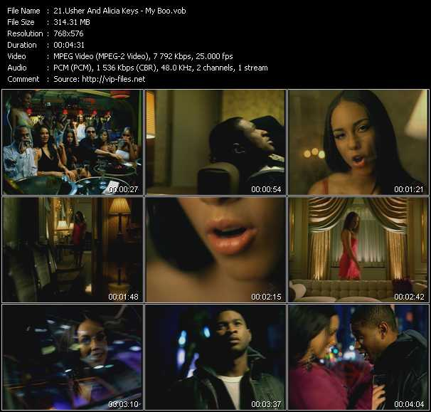 download Usher And Alicia Keys « My Boo » video vob