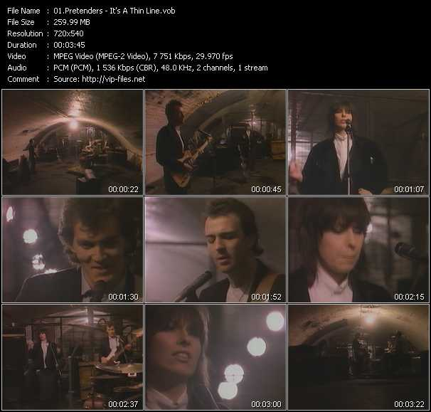 download Pretenders « It's A Thin Line » video vob