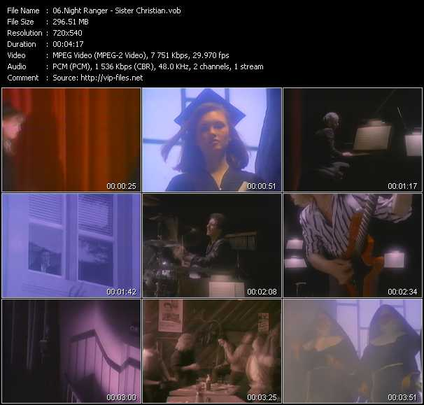 download Night Ranger « Sister Christian » video vob