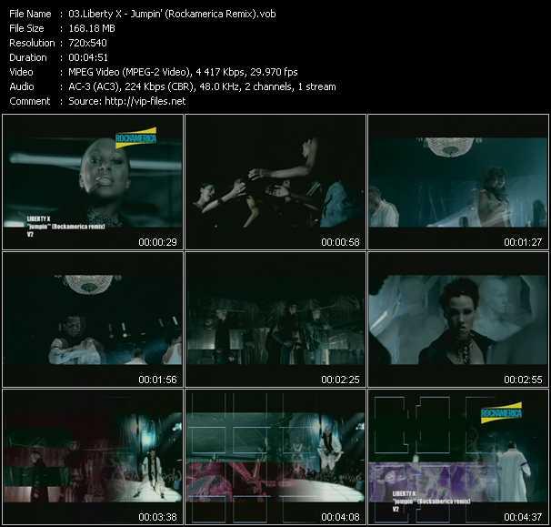 download Liberty X « Jumpin' (Rockamerica Remix) » video vob