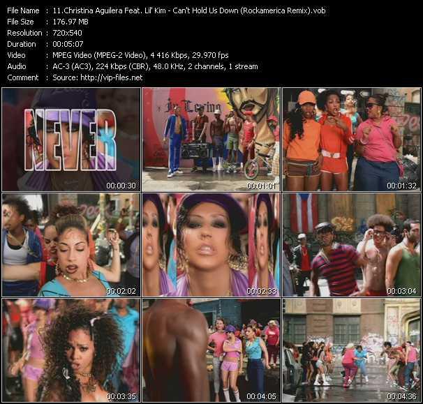 download Christina Aguilera Feat. Lil' Kim « Can't Hold Us Down (Rockamerica Remix) » video vob