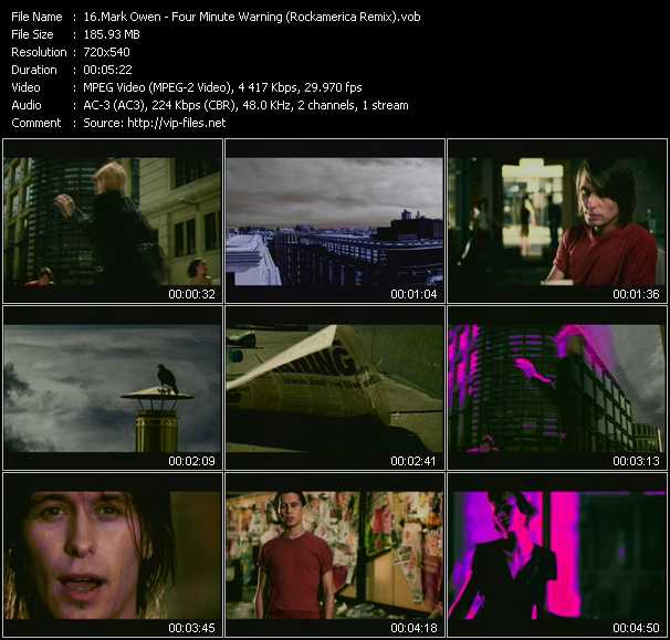 video Four Minute Warning (Rockamerica Remix) screen