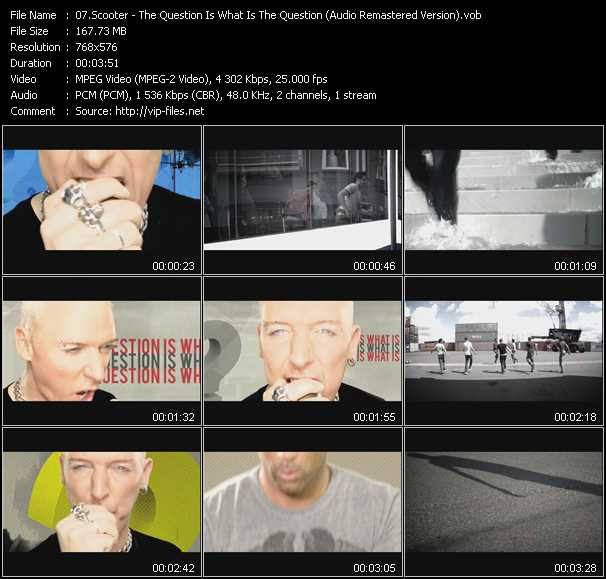 download Scooter « The Question Is What Is The Question? (Audio Remastered Version) » video vob