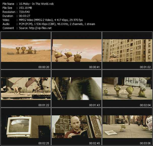 download Moby « In This World » video vob