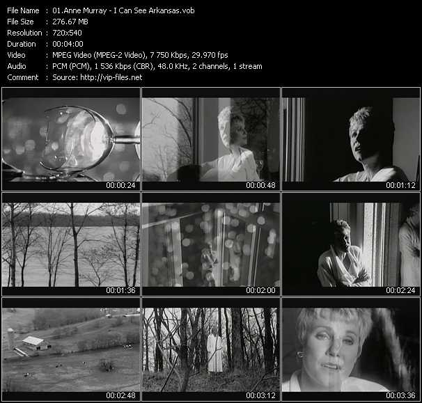 download Anne Murray « I Can See Arkansas » video vob