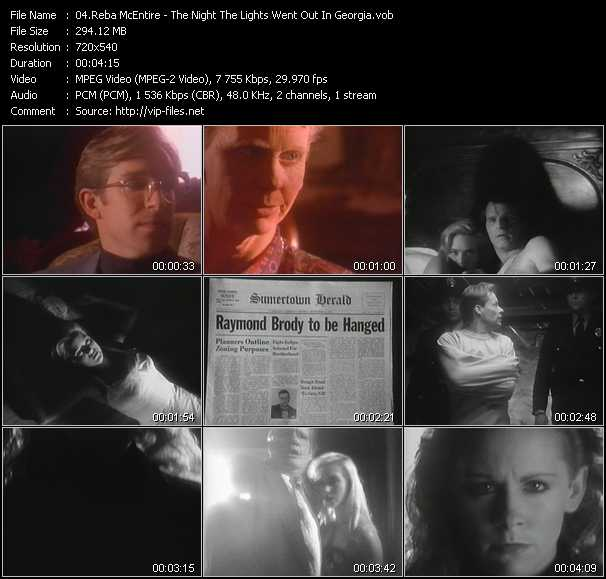 download Reba McEntire « The Night The Lights Went Out In Georgia » video vob