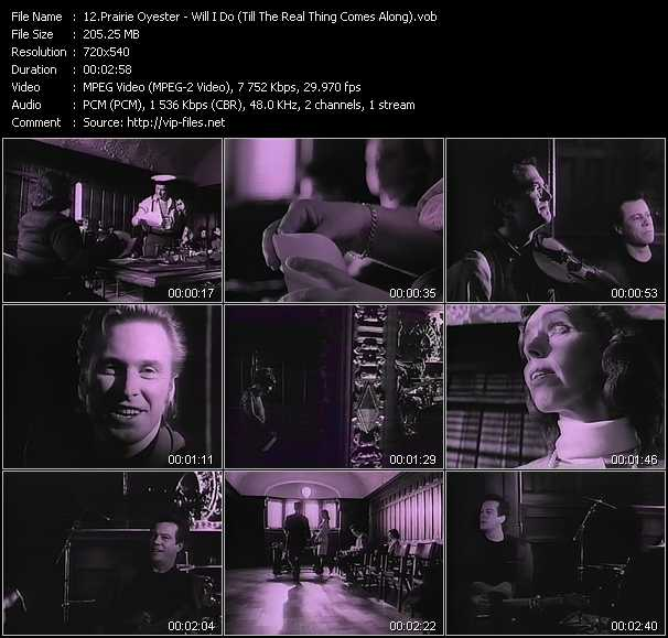 download Prairie Oyster « Will I Do (Till The Real Thing Comes Along) » video vob