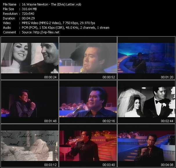 download Wayne Newton « The (Elvis) Letter » video vob